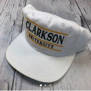 Vintage Clarkson University SnapBack hat spellout